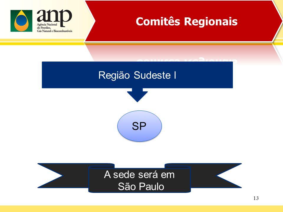 13 Região Sudeste l SP A sede será em São Paulo