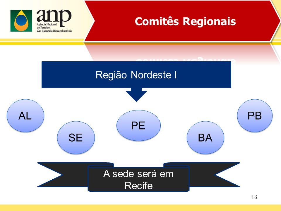16 Região Nordeste l SE PE A sede será em Recife PB AL BA