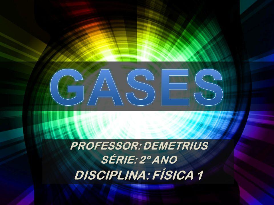 PROFESSOR: DEMETRIUS SÉRIE: 2º ANO DISCIPLINA: FÍSICA 1