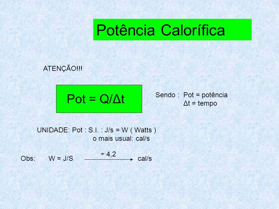 Resolvendo, temos: Q café + Q leite = 0 (mcΔT) café + ( mcΔT ) leite = 0 300.1.( T – 80) + 100.1.( T- 20)= 0 3T – 240 + T – 20 = 0 4T = 260 T = 65 0 C