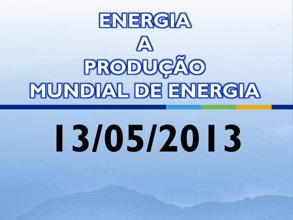 AS PRINCIPAIS PRODUTOS ENERGÉTICOS MUNDIAIS SÃO: 1.