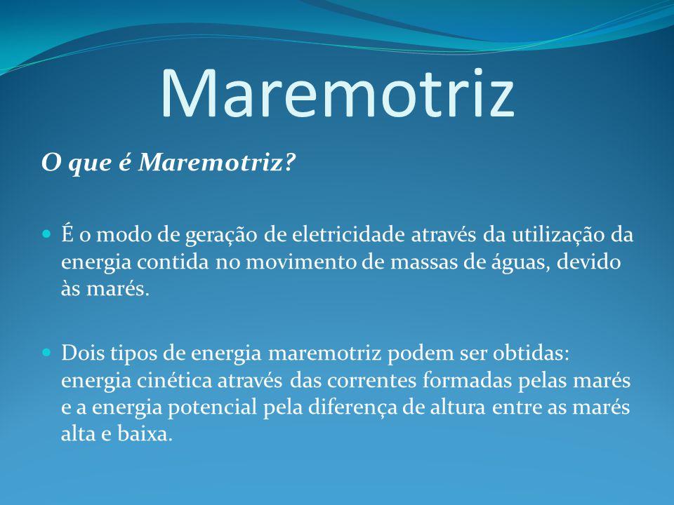 Maremotriz O que é Maremotriz.
