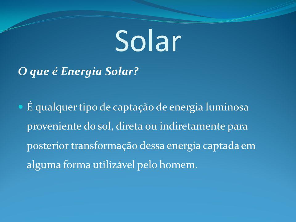 Solar O que é Energia Solar.