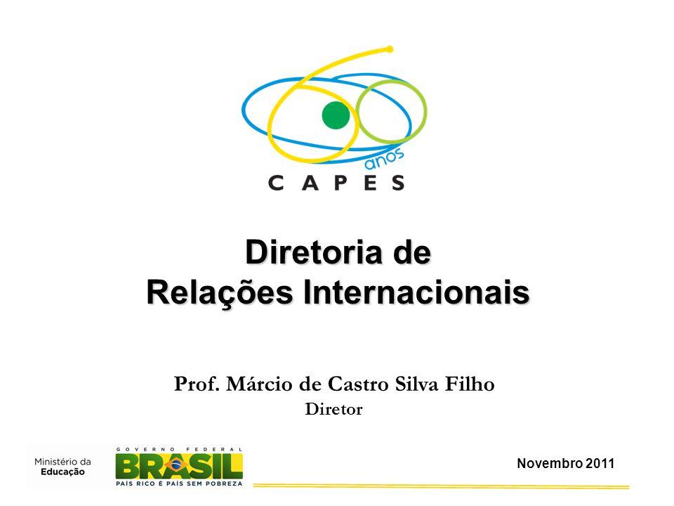 Prof. Márcio de Castro Silva Filho Diretor Diretoria de Relações Internacionais Novembro 2011