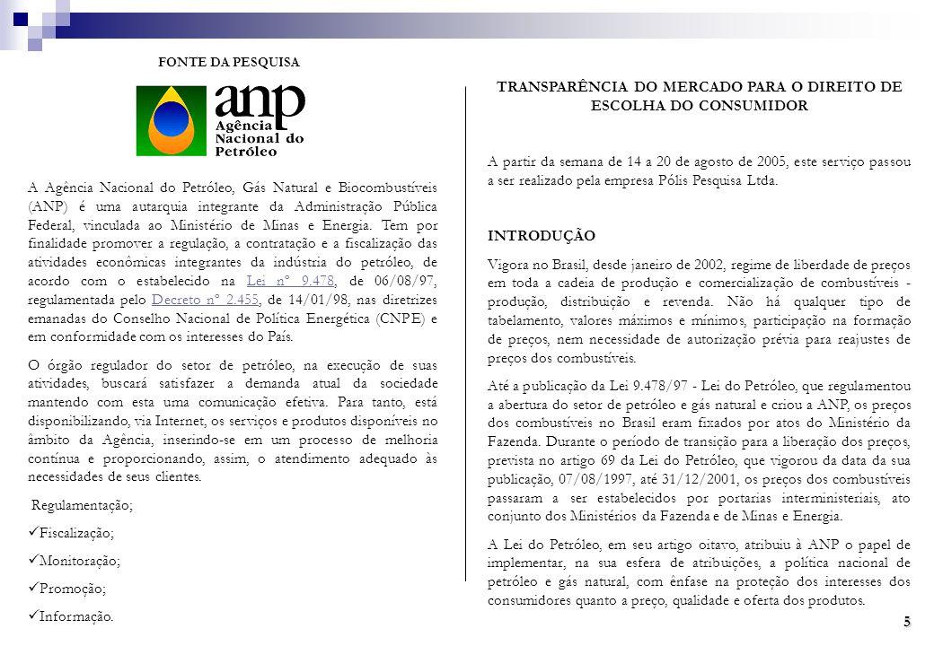 A Agência Nacional do Petróleo, Gás Natural e Biocombustíveis (ANP) é uma autarquia integrante da Administração Pública Federal, vinculada ao Ministério de Minas e Energia.