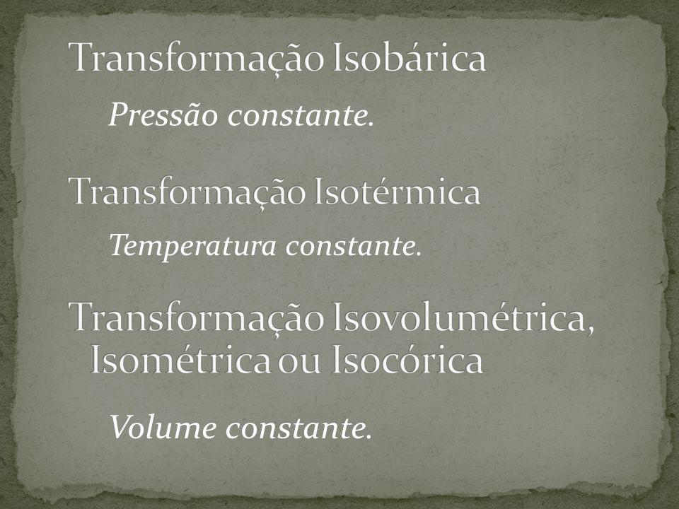 Linha curva do gráfico Pressão x volume que indica uma transformação isotérmica.