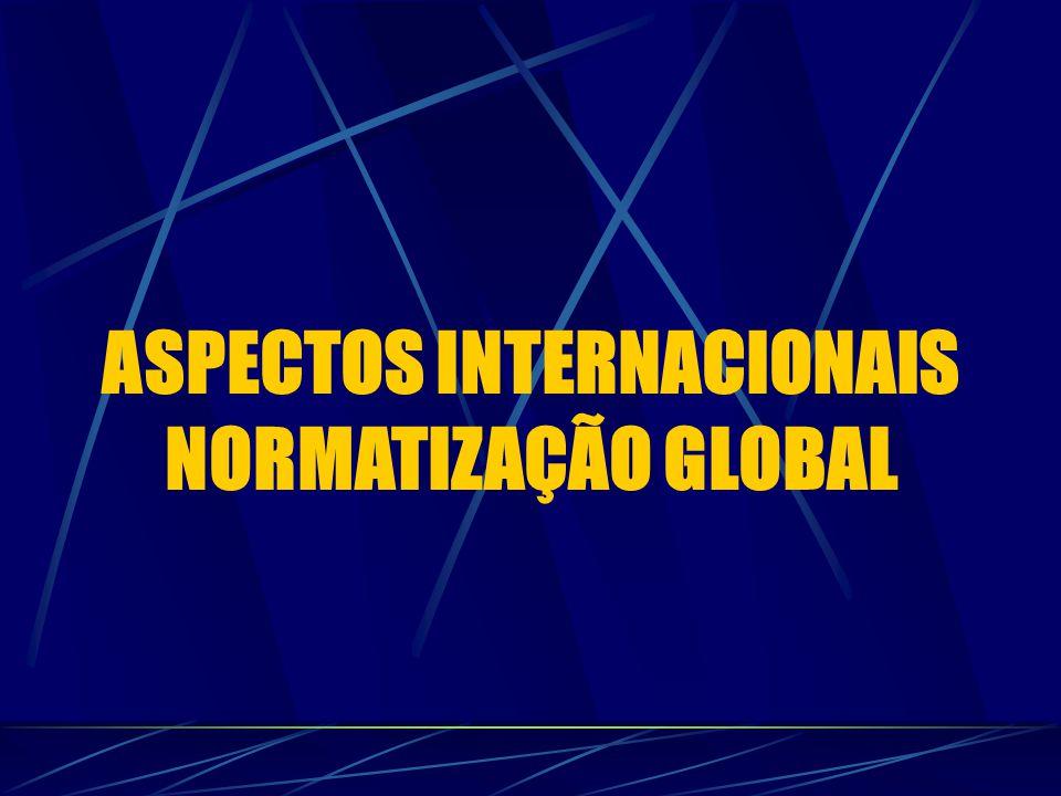 ASPECTOS INTERNACIONAIS NORMATIZAÇÃO GLOBAL