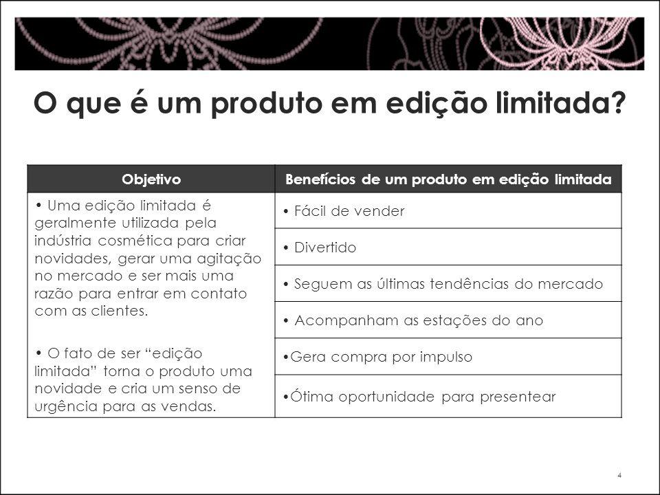 O que é um produto em edição limitada? ObjetivoBenefícios de um produto em edição limitada Uma edição limitada é geralmente utilizada pela indústria c