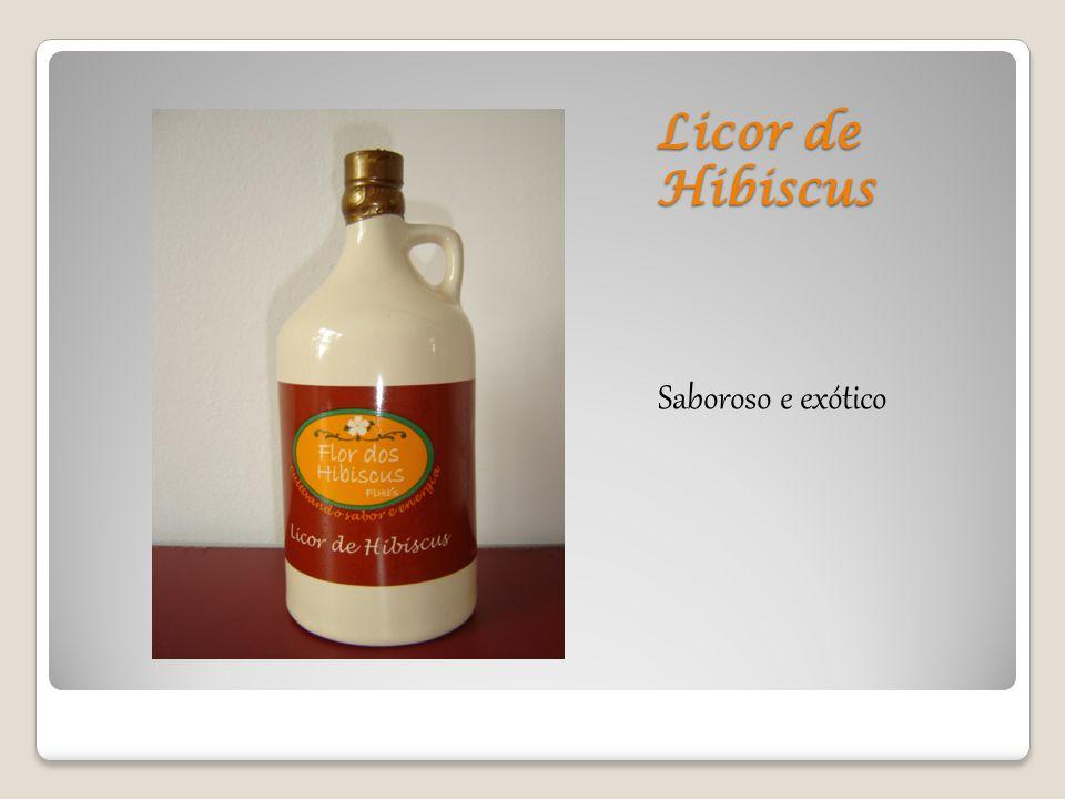 Licor de Hibiscus Saboroso e exótico