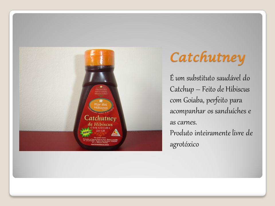 Catchutney É um substituto saudável do Catchup – Feito de Hibiscus com Goiaba, perfeito para acompanhar os sanduíches e as carnes. Produto inteirament