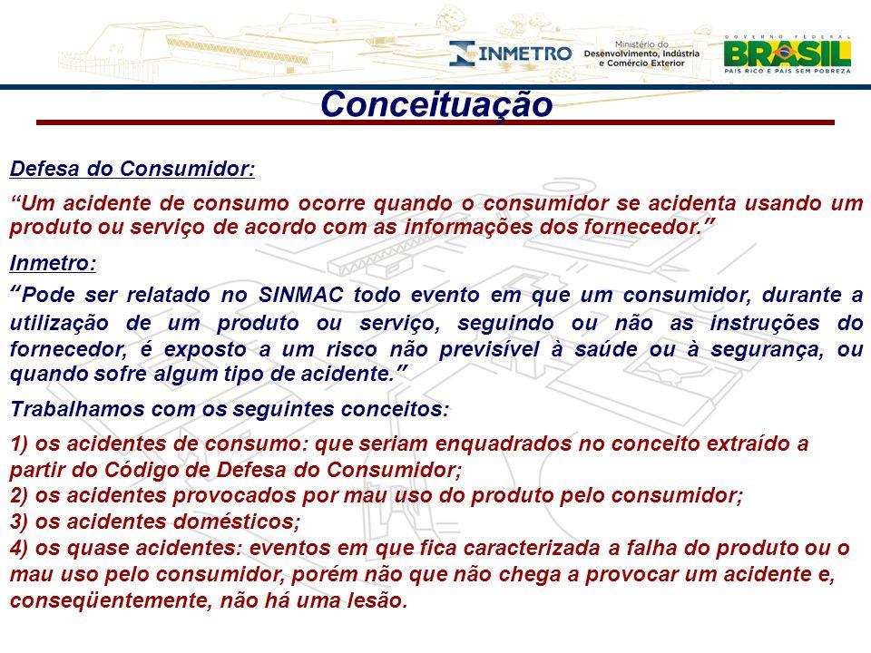Conceituação Defesa do Consumidor: Um acidente de consumo ocorre quando o consumidor se acidenta usando um produto ou serviço de acordo com as informa