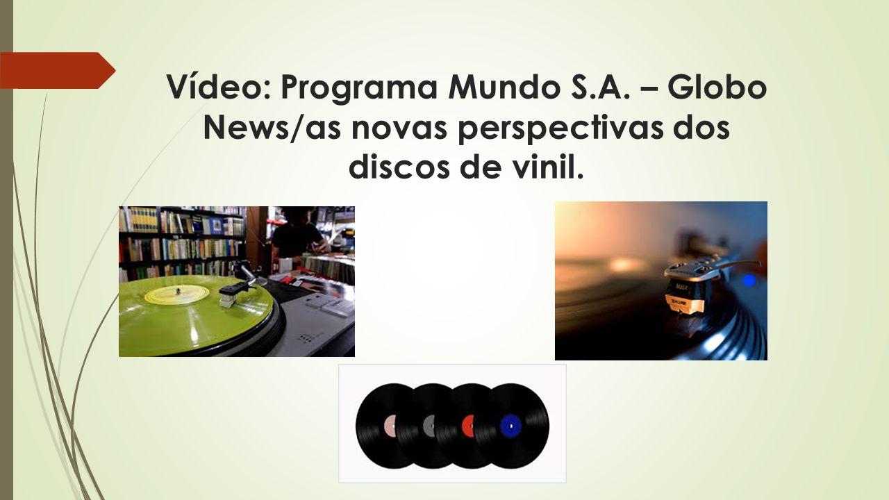 Vídeo: Programa Mundo S.A. – Globo News/as novas perspectivas dos discos de vinil.