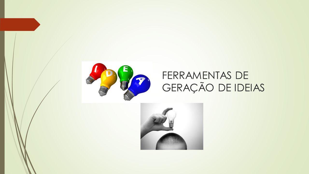 FERRAMENTAS DE GERAÇÃO DE IDEIAS