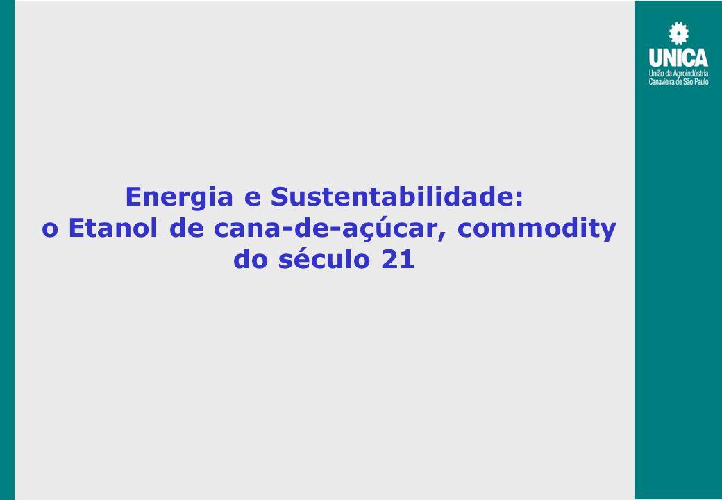 Energia e Sustentabilidade: o Etanol de cana-de-açúcar, commodity do século 21