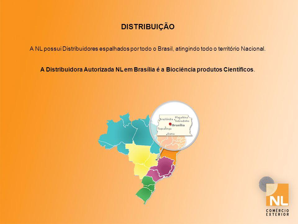 DISTRIBUIÇÃO A NL possui Distribuidores espalhados por todo o Brasil, atingindo todo o território Nacional. A Distribuidora Autorizada NL em Brasília