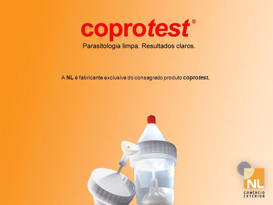 A NL é fabricante exclusiva do consagrado produto coprotest.