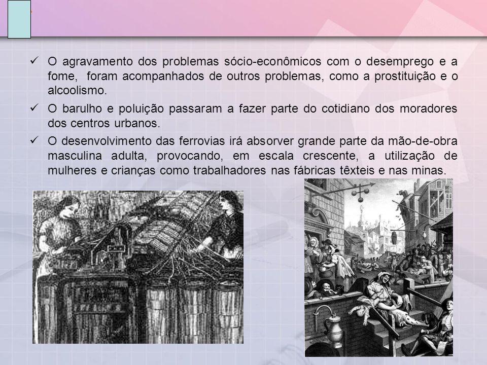 O agravamento dos problemas sócio-econômicos com o desemprego e a fome, foram acompanhados de outros problemas, como a prostituição e o alcoolismo. O
