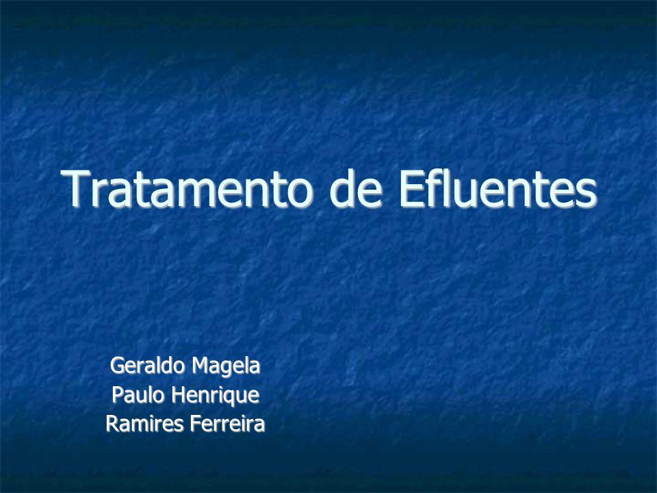 Tratamento de Efluentes Geraldo Magela Paulo Henrique Ramires Ferreira