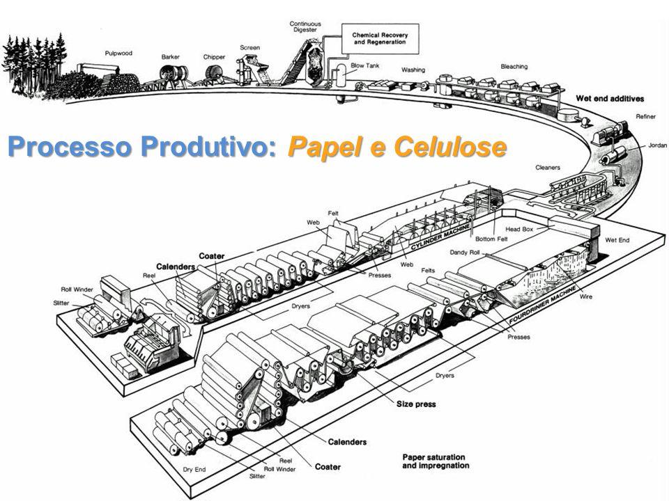 - Produção da madeira - Picagem - Cozimento - Branqueamento - Formação da folha - Secagem - AcabamentoProcesso