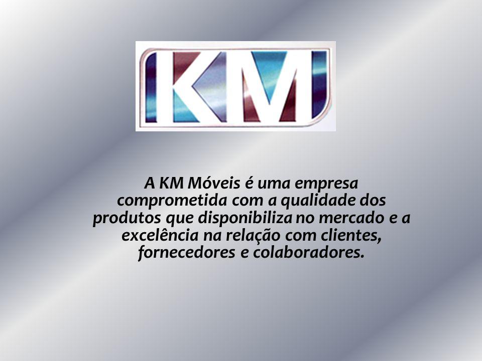 A KM Móveis é uma empresa comprometida com a qualidade dos produtos que disponibiliza no mercado e a excelência na relação com clientes, fornecedores