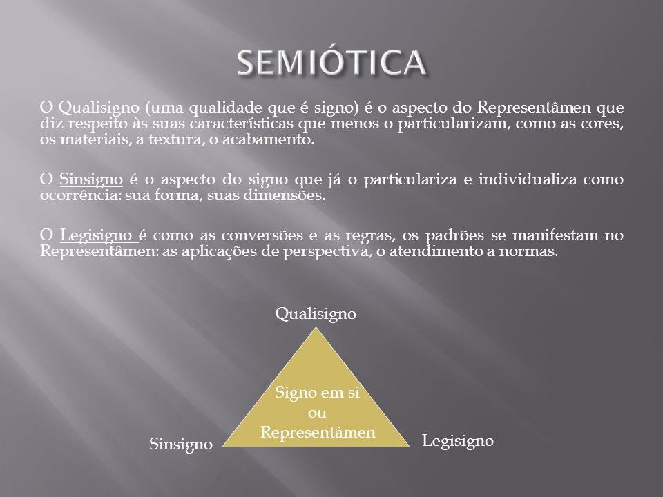 O Qualisigno (uma qualidade que é signo) é o aspecto do Representâmen que diz respeito às suas características que menos o particularizam, como as cor