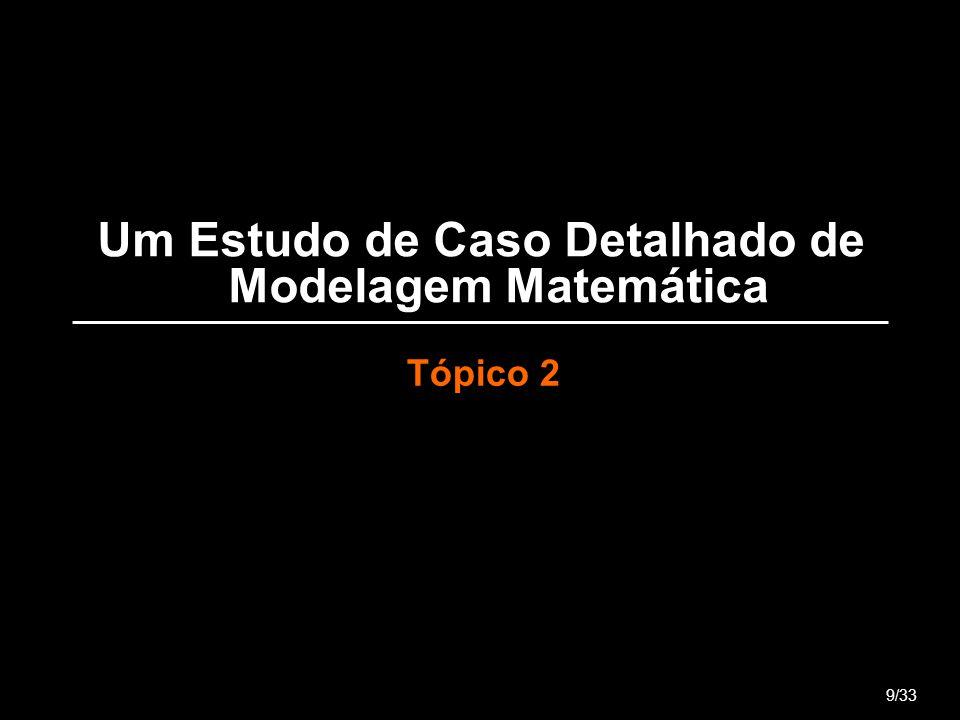 Um Estudo de Caso Detalhado de Modelagem Matemática Tópico 2 9/33