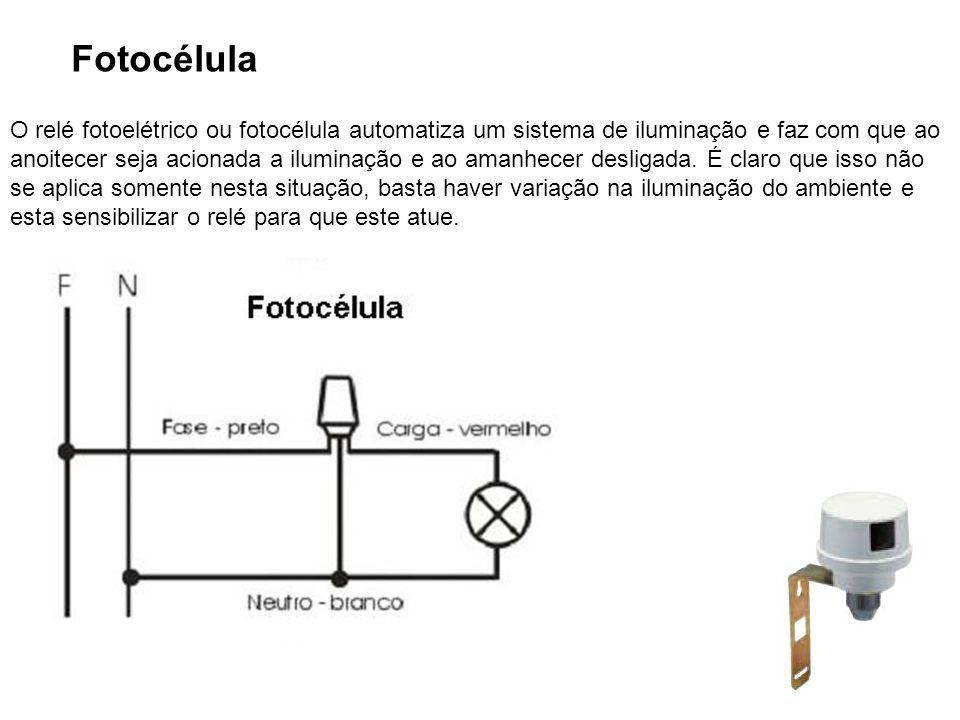 26 Fotocélula O relé fotoelétrico ou fotocélula automatiza um sistema de iluminação e faz com que ao anoitecer seja acionada a iluminação e ao amanhec