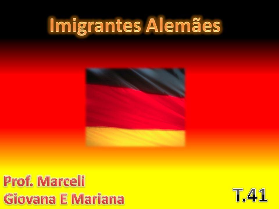 Os imigrantes alemãs vieram de navio, levou mais ou menos um mês para eles chegarem aqui.