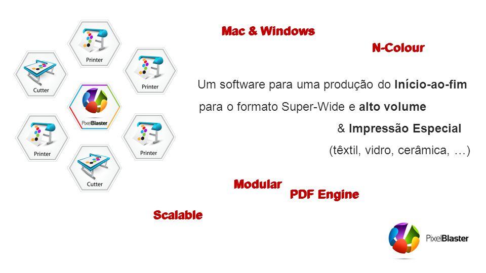 Um software para uma produção do Início-ao-fim para o formato Super-Wide e alto volume……… ………..