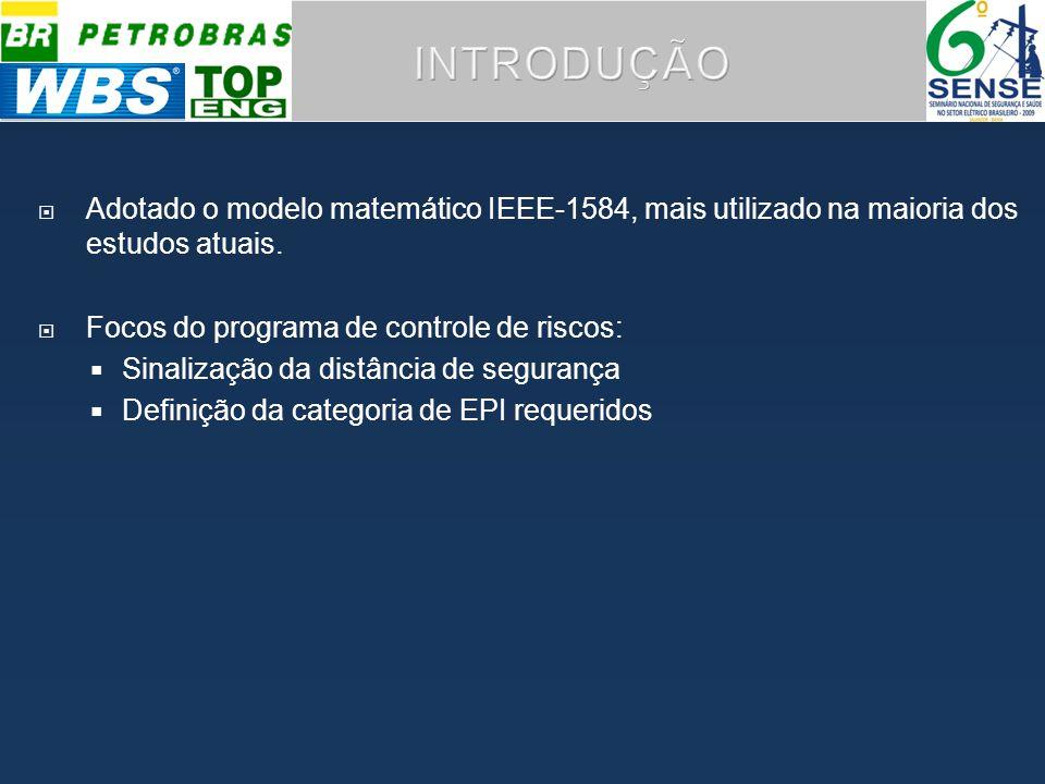 Adotado o modelo matemático IEEE-1584, mais utilizado na maioria dos estudos atuais.