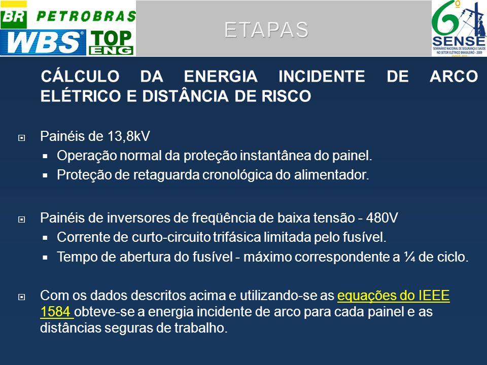 CÁLCULO DA ENERGIA INCIDENTE DE ARCO ELÉTRICO E DISTÂNCIA DE RISCO