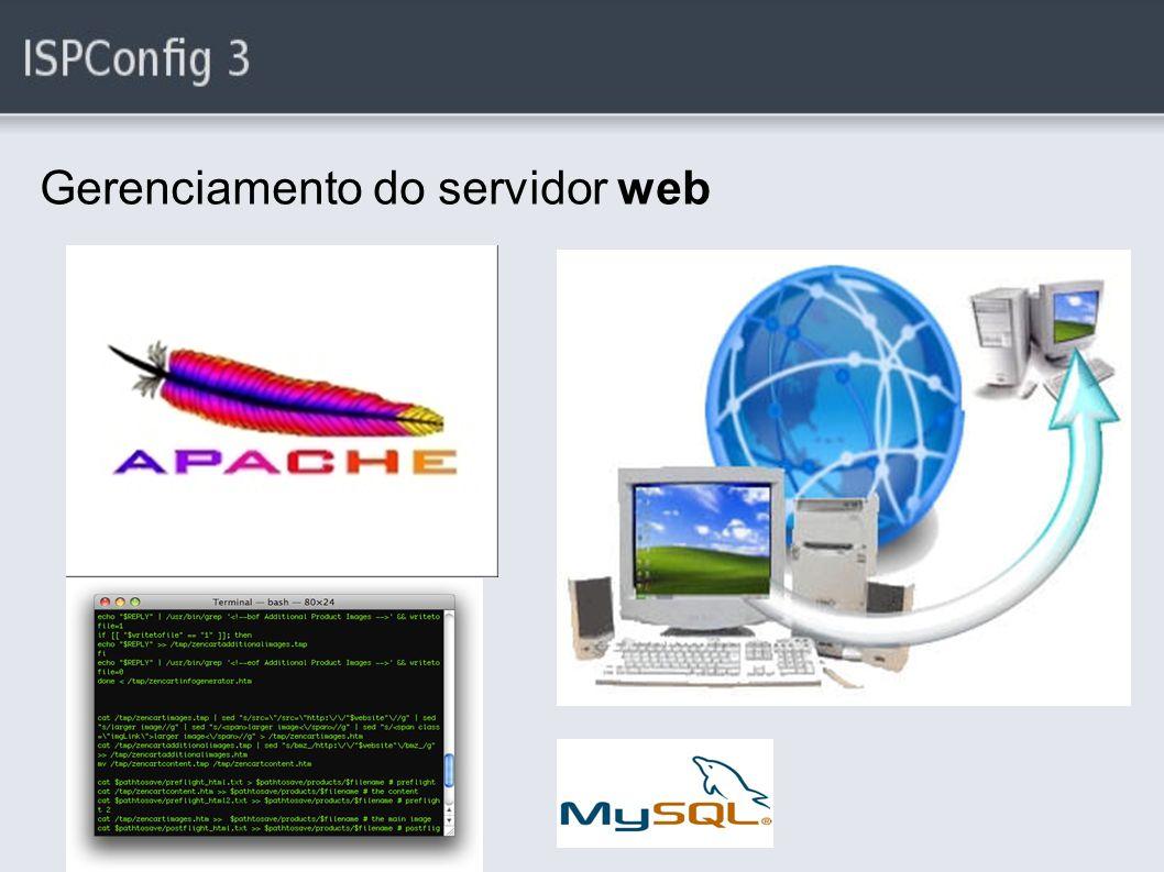 Gerenciamento do servidor web