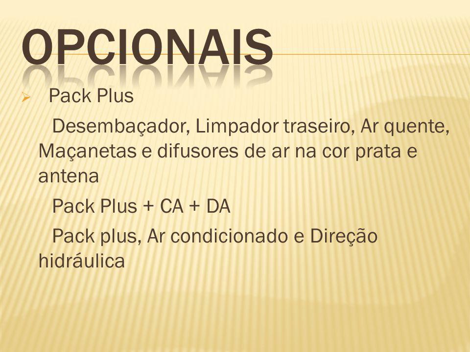 Pack Plus Desembaçador, Limpador traseiro, Ar quente, Maçanetas e difusores de ar na cor prata e antena Pack Plus + CA + DA Pack plus, Ar condicionado