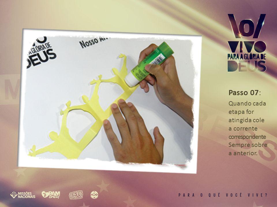 Passo 08: Motive sua igreja a alcançar seus alvos e colorir o painel de ofertas.
