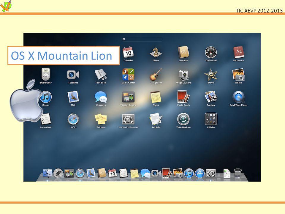 TIC AEVP 2012-2013 OS X Mountain Lion