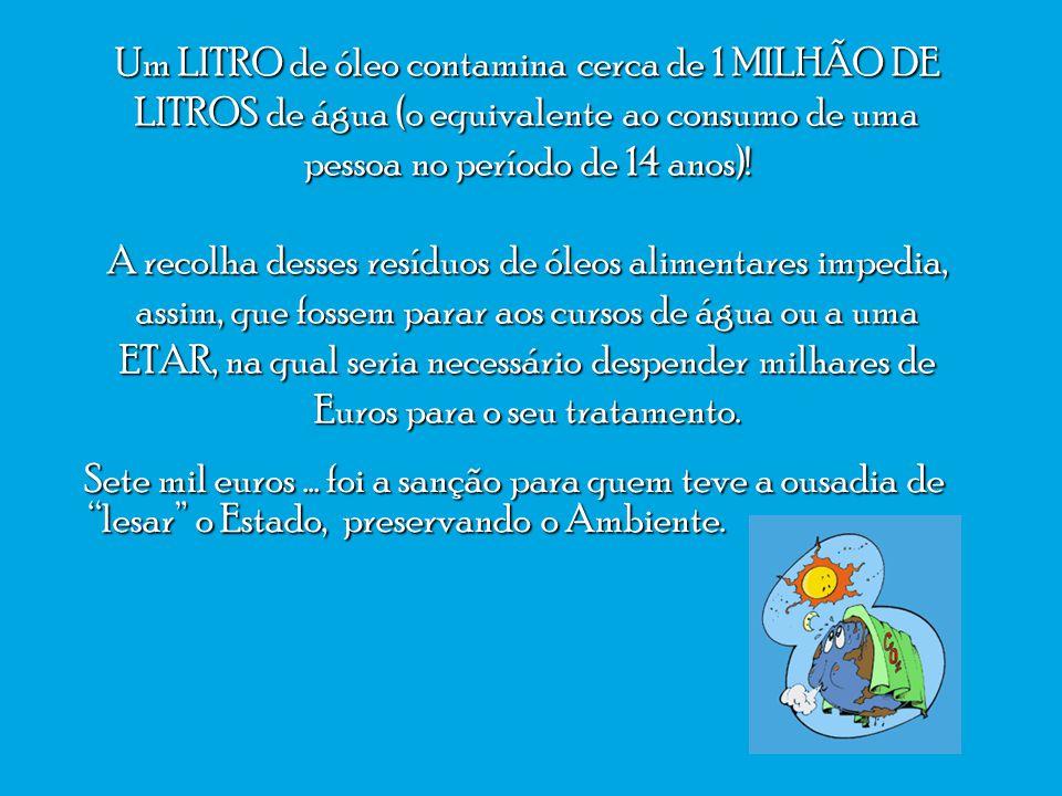 A Junta de Freguesia da Ericeira foi multada em sete mil euros por utilizar óleos reciclados para mover os carros do lixo, em vez de comprar combustíveis fósseis, pelo que o Estado se considera lesado, não arrecadando este a percentagem de 50 por cento..