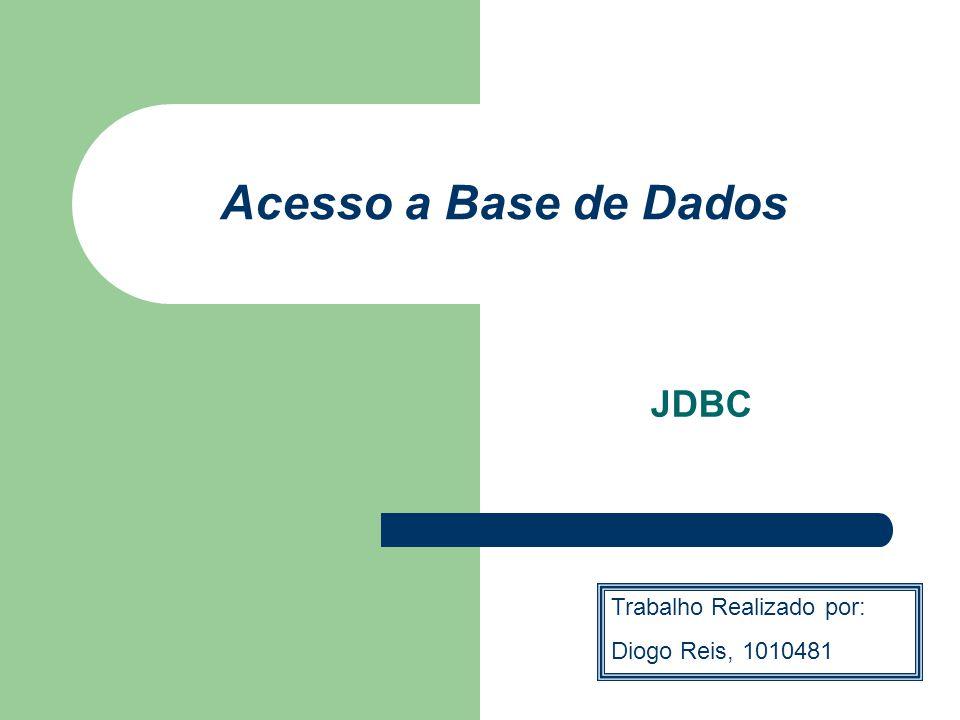 INTRODUÇÃO JDBC (Java DataBase Conectivity) é uma API Java que fornece classes e interfaces para acesso e tratamento de dados.