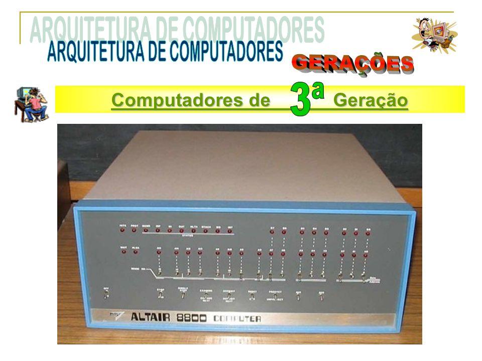 Computadores de Terceira Geração Computadores de Geração