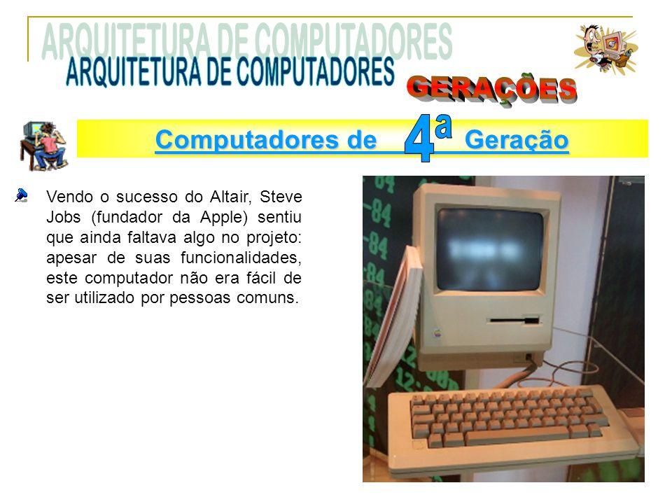 Vendo o sucesso do Altair, Steve Jobs (fundador da Apple) sentiu que ainda faltava algo no projeto: apesar de suas funcionalidades, este computador nã