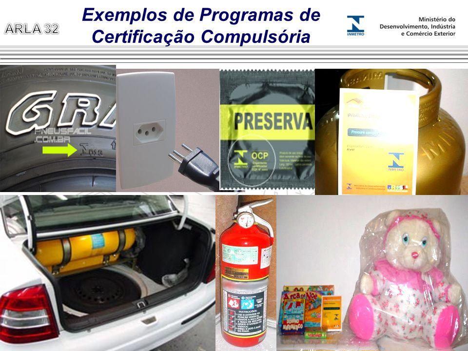 Exemplos de Programas de Certificação Compulsória