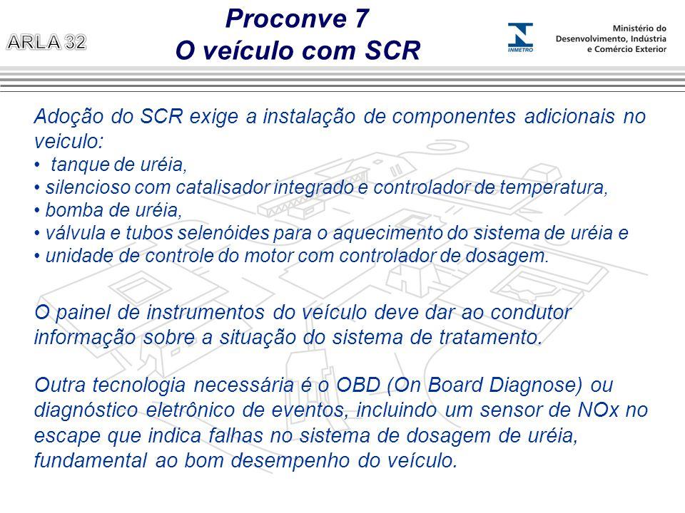 Adoção do SCR exige a instalação de componentes adicionais no veiculo: tanque de uréia, silencioso com catalisador integrado e controlador de temperat