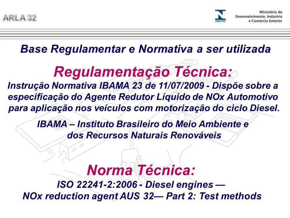 Regulamentação Técnica: Instrução Normativa IBAMA 23 de 11/07/2009 - Dispõe sobre a especificação do Agente Redutor Líquido de NOx Automotivo para apl