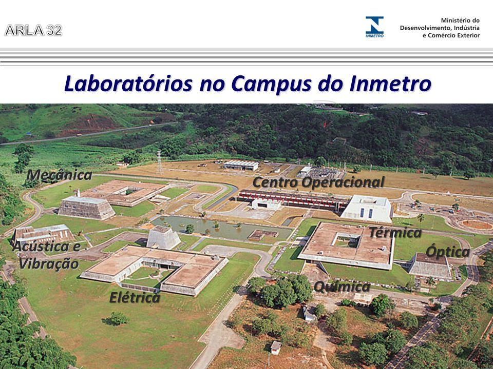 Laboratórios no Campus do Inmetro Mecânica Acústica e Vibração Elétrica Óptica Térmica Química Centro Operacional