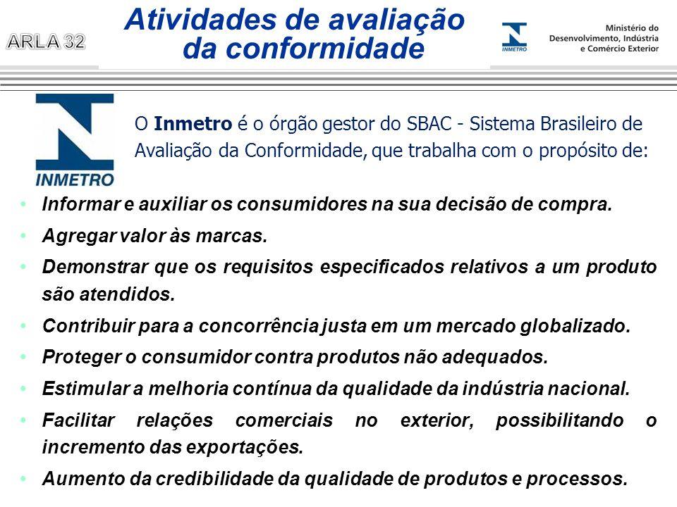 O Inmetro é o órgão gestor do SBAC - Sistema Brasileiro de Avaliação da Conformidade, que trabalha com o propósito de: Informar e auxiliar os consumid