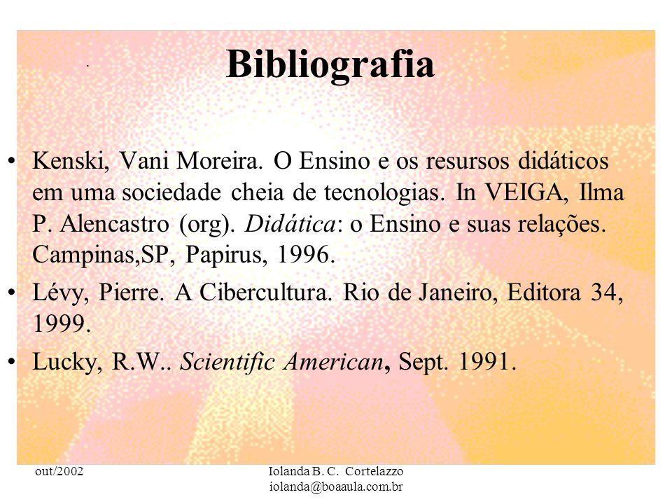 out/2002Iolanda B. C. Cortelazzo iolanda@boaaula.com.br Bibliografia Barato, Jarbas Novelino. Aqui Agora: novas tecnologias, o local e o universal. IN