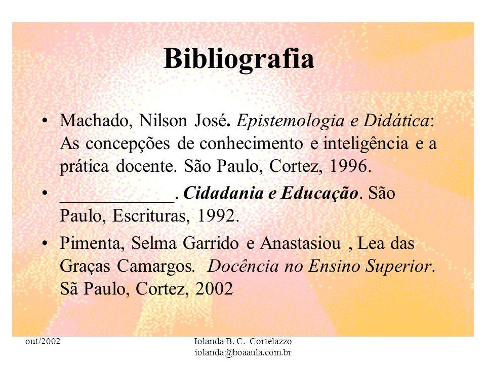 out/2002Iolanda B. C. Cortelazzo iolanda@boaaula.com.br Kenski, Vani Moreira. O Ensino e os resursos didáticos em uma sociedade cheia de tecnologias.