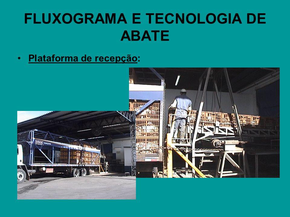 FLUXOGRAMA E TECNOLOGIA DE ABATE Plataforma de recepção: