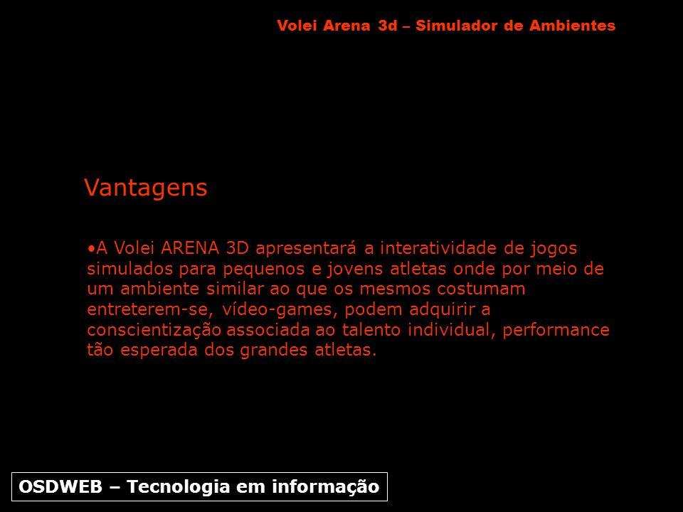 A Volei ARENA 3D apresentará a interatividade de jogos simulados para pequenos e jovens atletas onde por meio de um ambiente similar ao que os mesmos