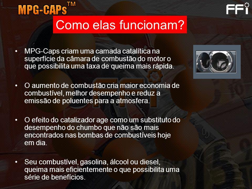 MPG-Caps criam uma camada catalítica na superfície da câmara de combustão do motor o que possibilita uma taxa de queima mais rápida. O aumento de comb