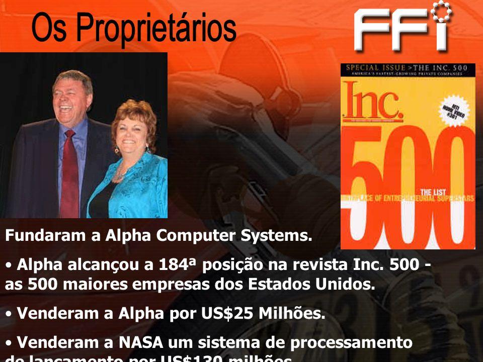 Fundaram a Alpha Computer Systems.Alpha alcançou a 184ª posição na revista Inc.